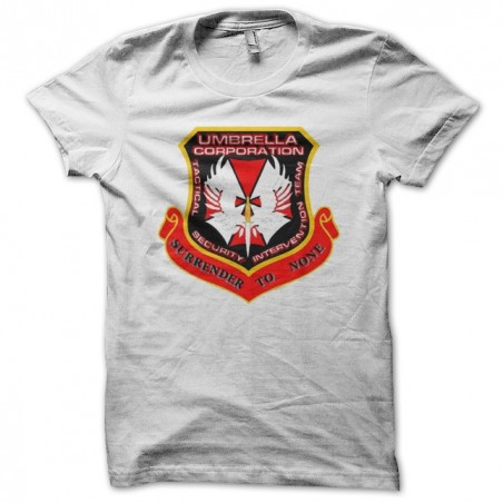 Umbrella Corporation two white sublimation t-shirt