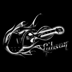 tee shirt gibson guitare  sublimation