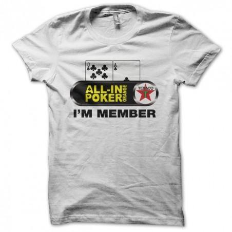 Allin Poker Orange t-shirt I'm Member white sublimation