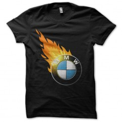 t-shirt bmw fire black...