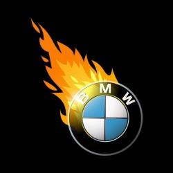 t-shirt bmw fire black sublimation