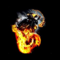 tee shirt ghost rider pixels sublimation