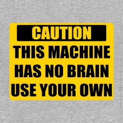 Attention sublimation brain shirt