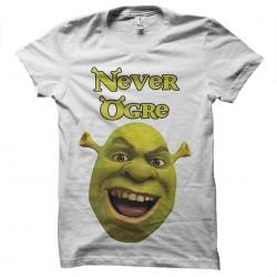 tee shirt shrek never ogre...