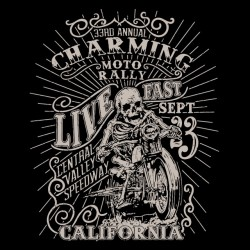 charming motorcycle rally sublimation t-shirt