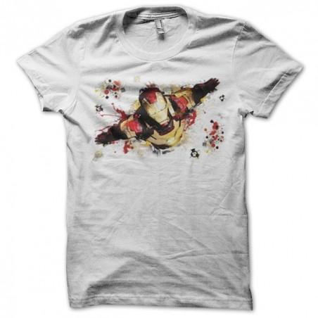 Ironman3 art work t-shirt white sublimation