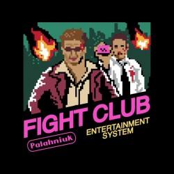fight club 8-bit sublimation tee shirt