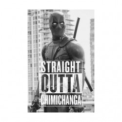 tee shirt deadpool straight...