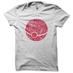 Red pokeball art work t-shirt white sublimation