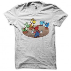 Jurassic shirt Mario World white sublimation