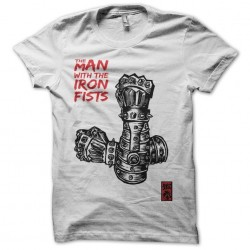 The man with the iron fist fan art white sublimation t-shirt