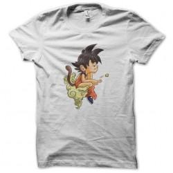 dragonball goku white sublimation cartoon shirt