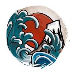 Shirt Hokusai Japan white...