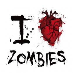shirt I love zombie white...