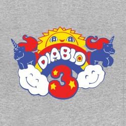 diablo shirt 3 gray pony sublimation