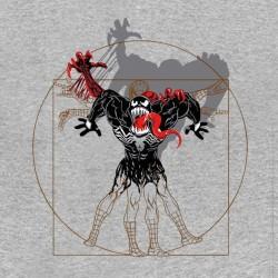 tee shirt vitruvian spider man gris sublimation