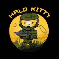 black kitty halo sublimation shirt