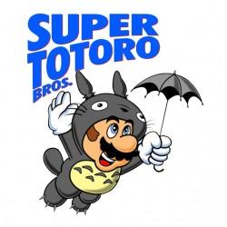 shirt super totoro bros...