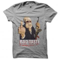 tee shirt bad taste gris...