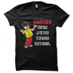 black sublimation haribo shirt