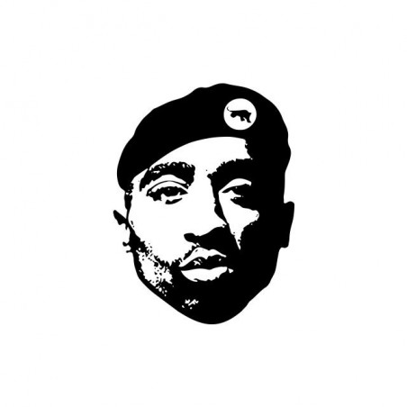 Tupac Black Panther white sublimation t-shirt