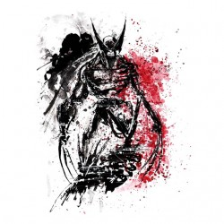 wolverine white artwork...
