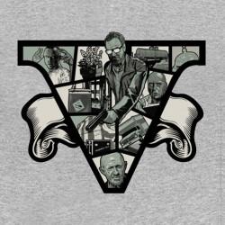 breaking bad t shirt design gray sublimation
