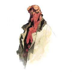 Hellboy art white...
