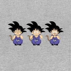 tee shirt évolution goku singes gris sublimation