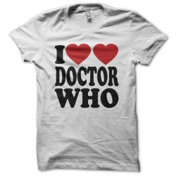 I love Doctor Who white sublimation t-shirt