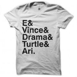 sublimation white entourage series shirt