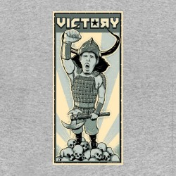 tee shirt johnny drama victoire viking quest gris sublimation