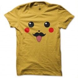 tee shirt pikachu moustache...