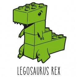 Legosaurus Rex Shirt - White sublimation