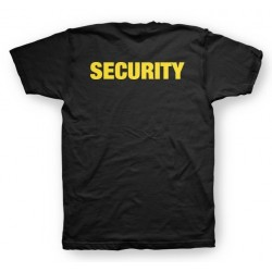 Police black sublimation security t-shirt