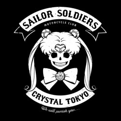 tee shirt Sailor soldiers crystal tokyo  sublimation