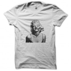shirt Marilyn Monroe face funny white sublimation
