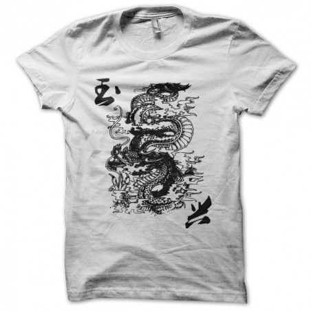 Chinese Dragon t-shirt artwork white sublimation