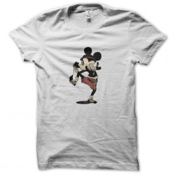 mickey mouse boxing shirt white sublimation