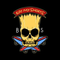 shirt bart simpson black skeleton sublimation