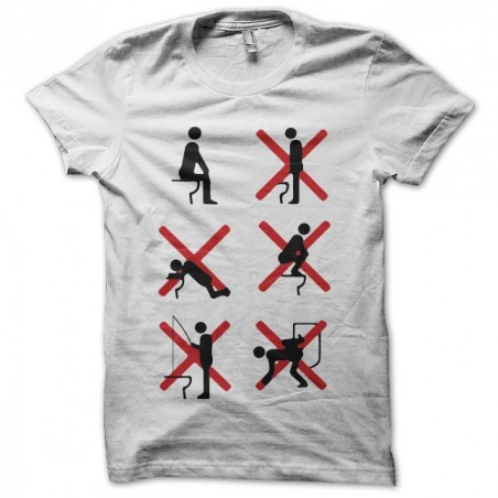 T-shirt humor use toilet toilet white sublimation