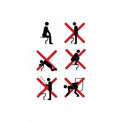 Tee shirt humour utilisation WC toilettes  sublimation