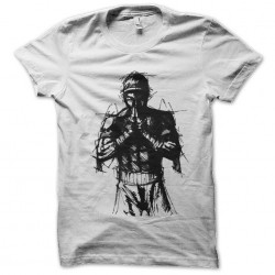 thai shirt boxing art white...