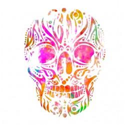 skull art white sublimation shirt