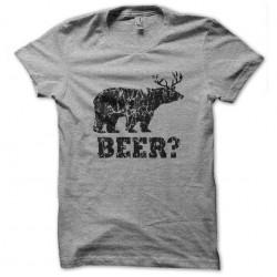 tee shirt Beer gris...