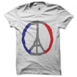 shirt pray for paris white...