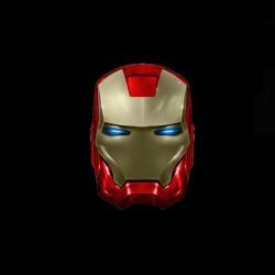 Iron Man 2 sublimation helmet black t-shirt