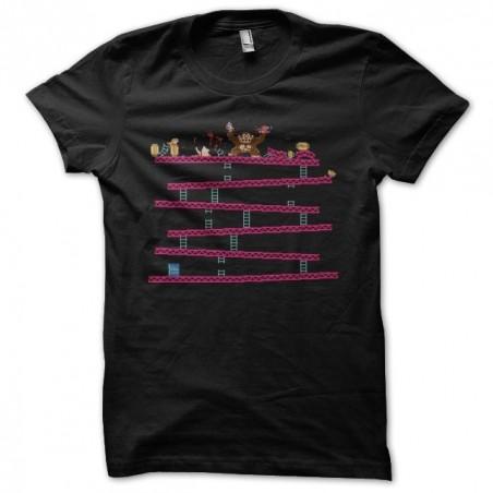 Donkey Kong parody gore black sublimation t-shirt