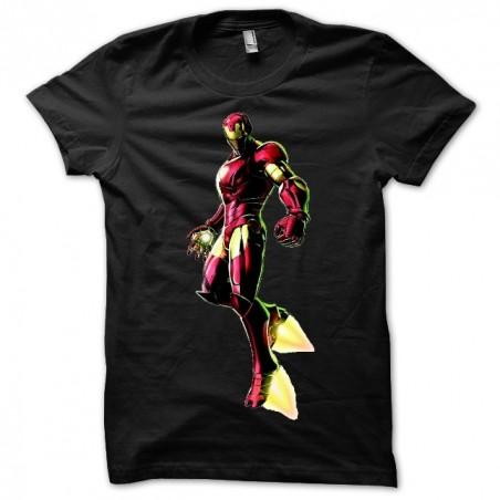 Iron Man sublimation black t-shirt