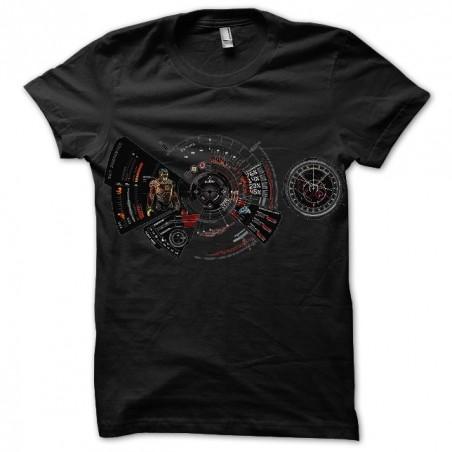 Iron Man Jarvis sublimation black t-shirt